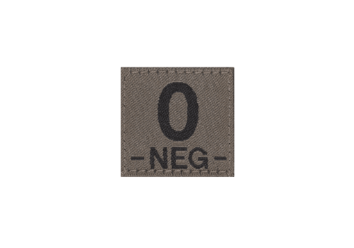 0 Neg Bloodgroup Patch RAL7013