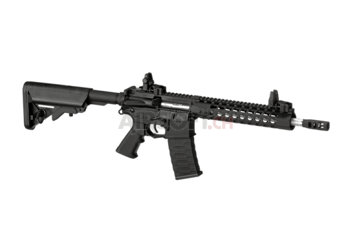 10 Inch Keymod Match Rifle Blowback Black (APS)