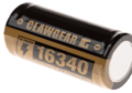 16340 Battery 3.7V 700mAh Black (Clawgear)