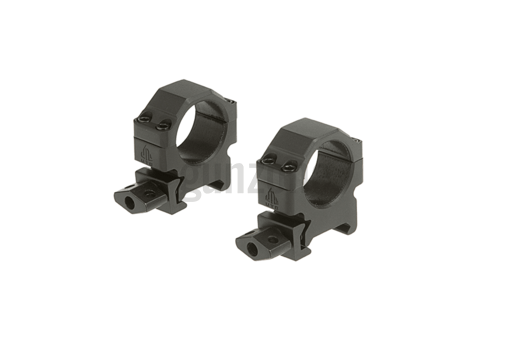25.4mm CNC Mount Rings Low Black (Leapers)