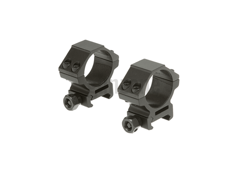 30mm Mount Rings Low Black (Leapers)