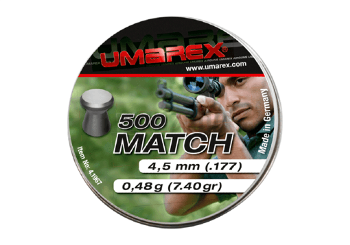 4.5mm Match Pellets 0.48g 500rds (Umarex)