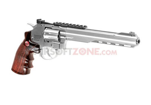 8 Inch SuperHawk Full Metal Co2 Chrome (Ruger)