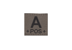 A-Pos-Bloodgroup-Patch-RAL7013-Clawgear