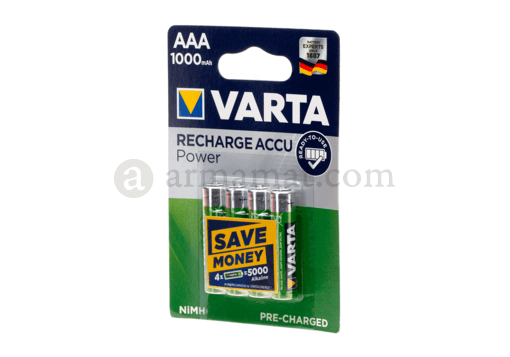 AAA Rechargable 1000mAh 4pcs (Varta)