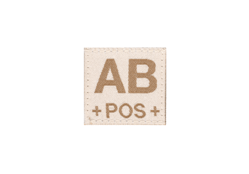 AB Pos Bloodgroup Patch Desert