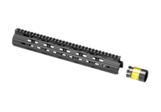 AR-15-12.9-Inch-Super-Slim-Free-Float-Handguard-Black-Leapers