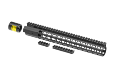 AR-15-12.9-Inch-Super-Slim-Free-Float-Handguard-Keymod-Black-Leapers