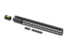 AR-15-15.3-Inch-Super-Slim-Free-Float-Handguard-Keymod-Black-Leapers