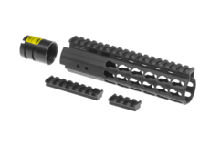 AR-15-7.2-Inch-Super-Slim-Free-Float-Handguard-Keymod-Black-Leapers