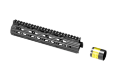 AR-15-9.6-Inch-Super-Slim-Free-Float-Handguard-Black-Leapers