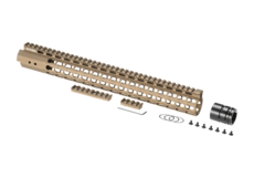 AR-15-Rifle-Length-Super-Slim-Free-Float-Handguard-Burnt-Bronze-Leapers