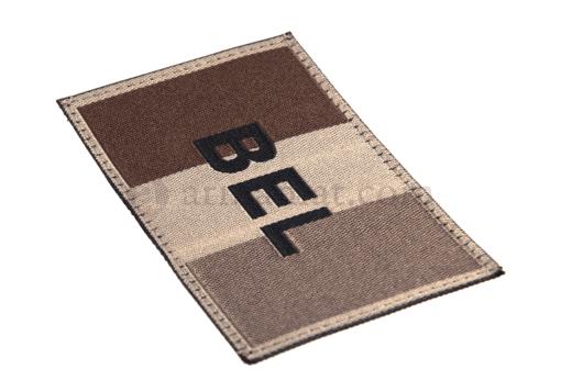 Belgium Flag Patch Desert (Clawgear)