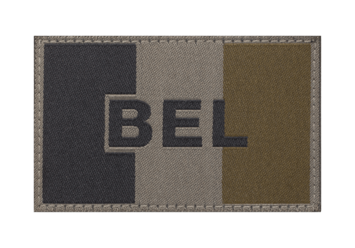 Belgium Flag Patch RAL7013