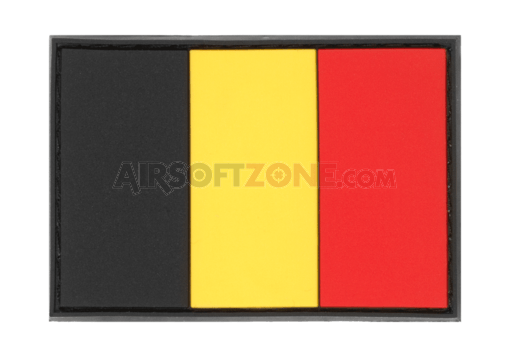 Belgium Flag Rubber Patch Color (JTG)