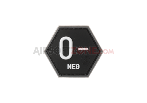 Bloodgroup Hexagon Rubber Patch 0 Neg SWAT (JTG)