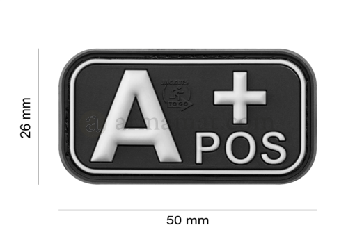 Bloodtype Rubber Patch A Pos SWAT (JTG)