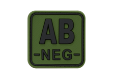 Bloodtype-Square-Rubber-Patch-AB-Neg-Forest-JTG