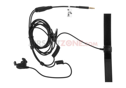 Bone Conduction Headset Mobile Phone Connector Black (Z-Tactical)