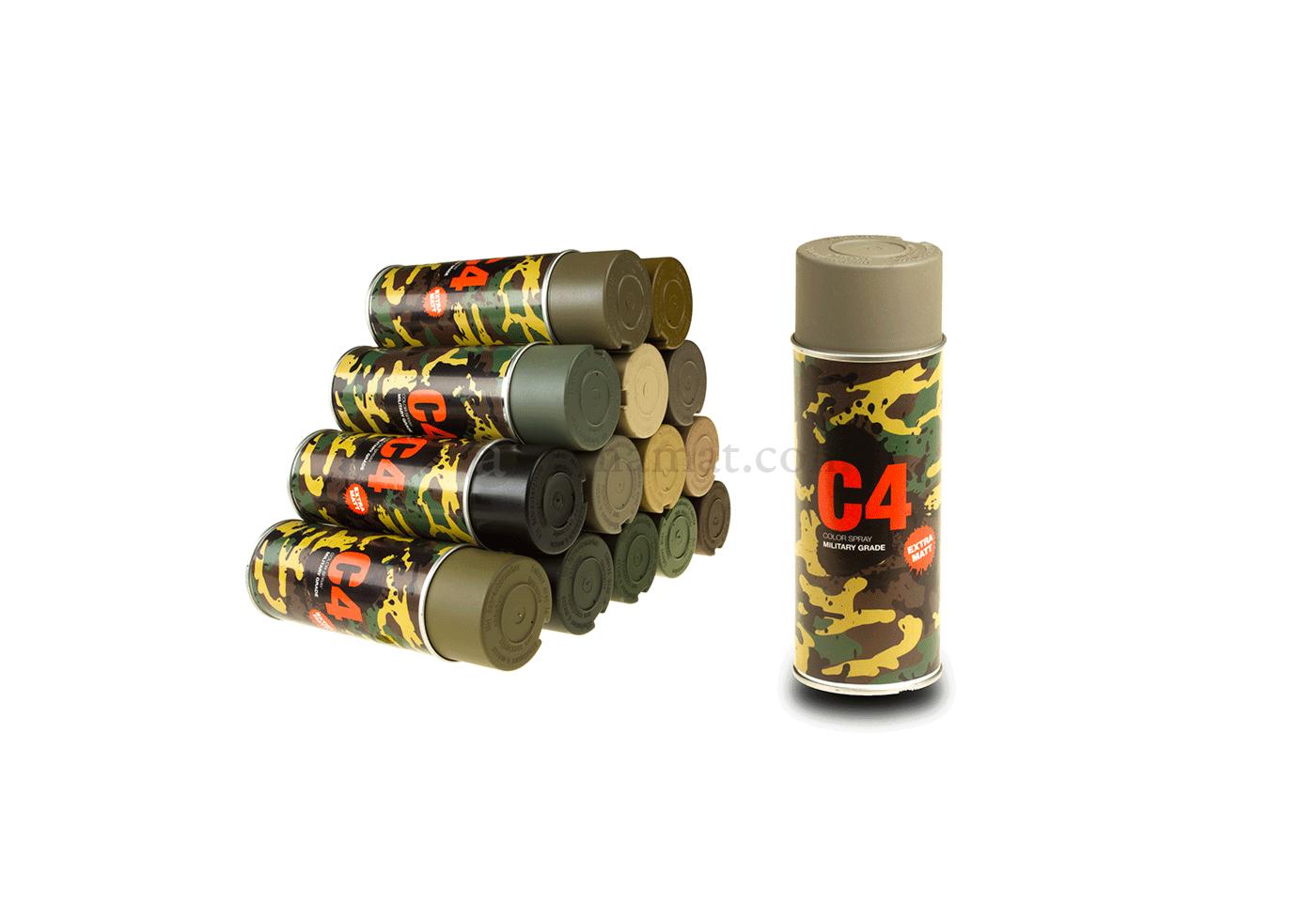 C4 Mil Grade Color Spray Flat Dark Earth Armamat Color Sprays Camouflage Equipment Armamat Online Shop Armamat Com