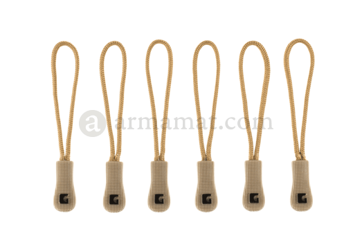 CG Zipper Puller Medium 6-Pack Coyote (Clawgear)