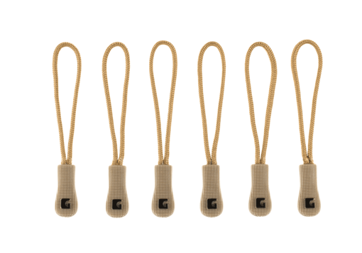 CG Zipper Puller Medium 6-Pack Coyote