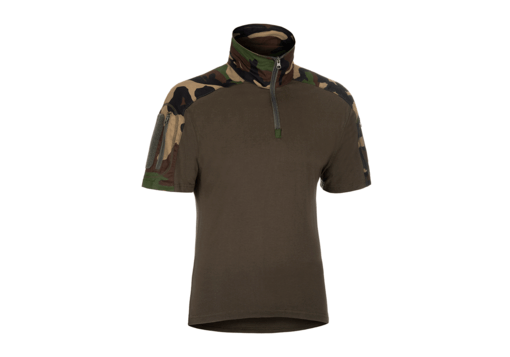 Combat Shirt Short Sleeve Woodland XXL
