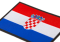 Croatia Flag Patch Color