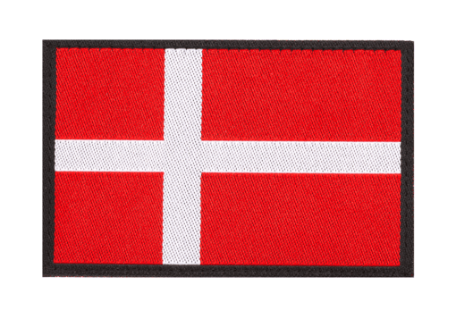 Denmark Flag Patch Color
