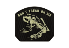 Don't-Tread-on-me-Frog-Rubber-Patch-Glow-in-the-Dark-JTG
