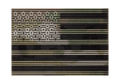 Dual IR Patch USA Multicam