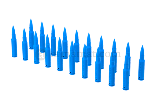 Dummy Bullets 7.62x51 20pcs Blue (IMI Defense)