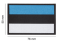 Estonia Flag Patch Color