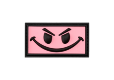 Evil-Smiley-Rubber-Patch-Pink-JTG