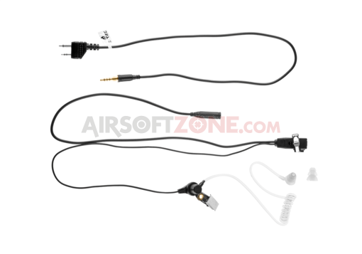 FBI Style Acoustic Headset Midland Connector Black (Z-Tactical)