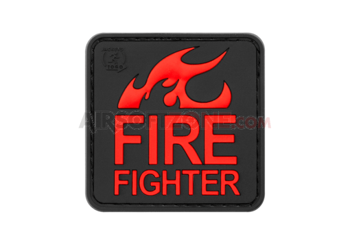 Fire Fighter Rubber Patch Blackmedic (JTG)