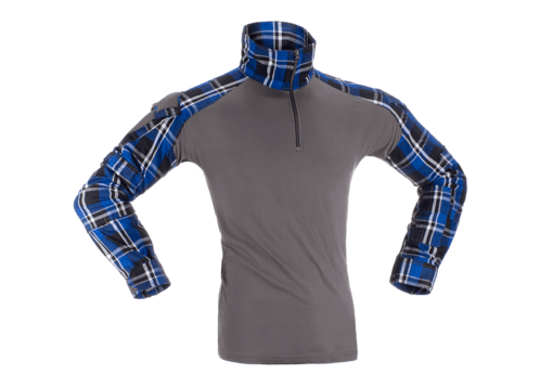 Flannel Combat Shirt Blue L