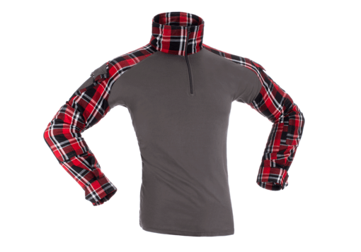 Flannel Combat Shirt Red L