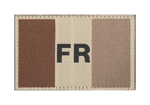 France Flag Patch Desert