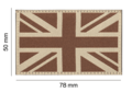 Great Britain Flag Patch Desert