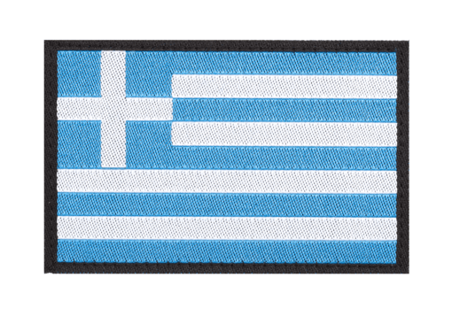 Greece Flag Patch Color