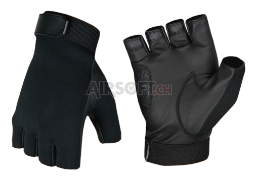 Half Finger Shooting Gloves Black (Invader Gear) M