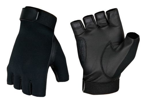Half Finger Shooting Gloves Black M