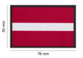 Latvia Flag Patch Color
