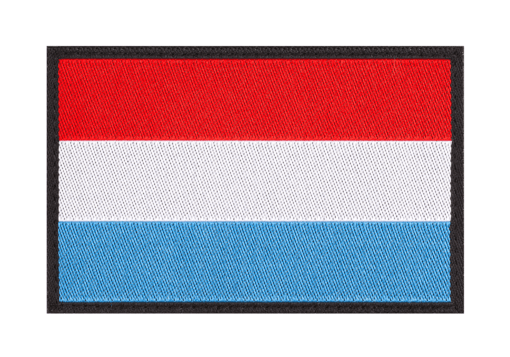 Luxemburg Flag Patch Color