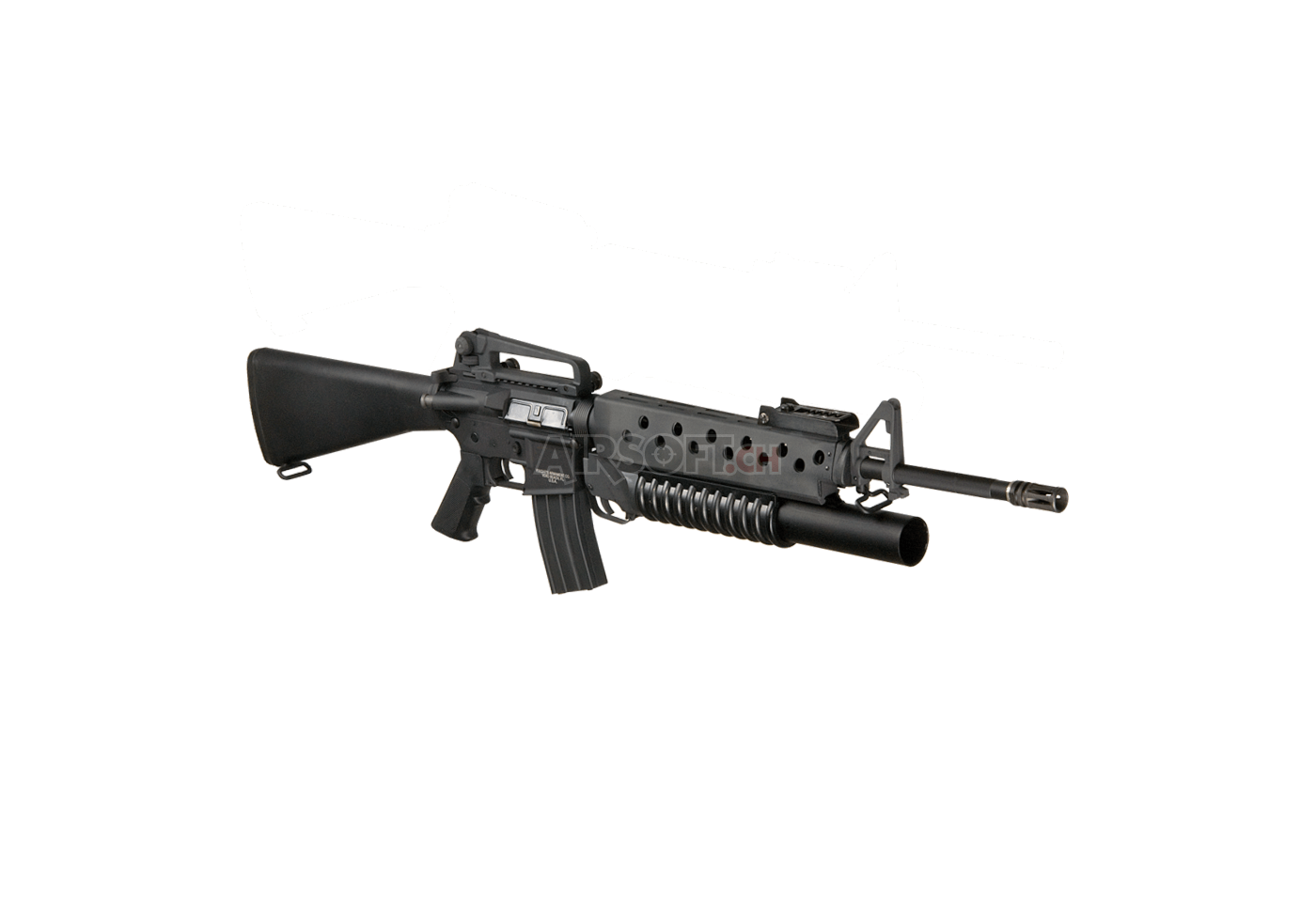 M16A3 with M203 Grenade Launcher Black (G&P) - AEG ... M16a3 M203
