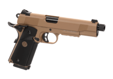 M1911-MEU-TBC-Full-Metal-GBB-Tan-KJ-Works