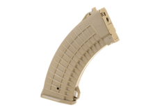 Magazin-AK47-Waffle-Hicap-600rds-Tan-Pirate-Arms
