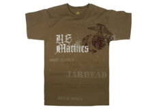 Marines-Globe-Anchor-T-Shirt-Brown-Rothco-M