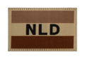 Netherlands Flag Patch Desert